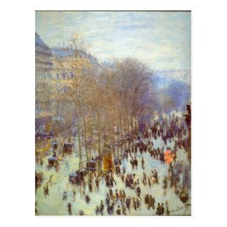 Boulevard Capucines durch Claude Monet Postkarten