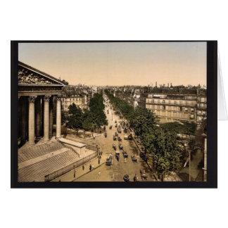 Boulevard der Madeline (d.h., Madeleine), Paris Grußkarte