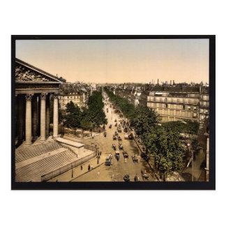 Boulevard der Madeline (d.h., Madeleine), Paris Postkarten