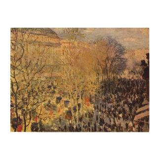 Boulevard-DES Capucines durch Claude Monet, schöne Holzwanddeko