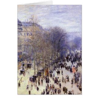 Boulevard-DES Capucines durch Claude Monet, schöne Karte