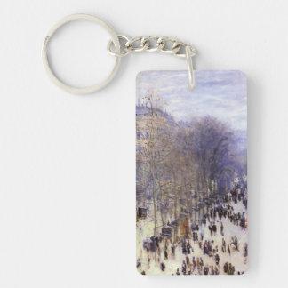 Boulevard-DES Capucines durch Claude Monet, schöne Schlüsselanhänger