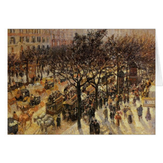 Boulevard-DES Italiens Camilles Pissarro- Grußkarte