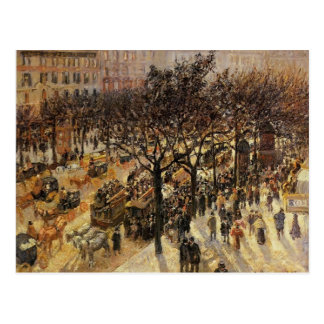 Boulevard-DES Italiens Camilles Pissarro- Postkarte