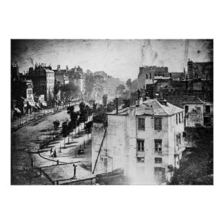 Boulevard du Temple, durch Daguerre, historisches  Plakatdruck