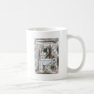 Boulevard-Hand gemalte abstrakte Brushstrokes Kaffeetasse