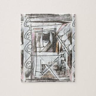 Boulevard-Hand gemalte abstrakte Brushstrokes Puzzle