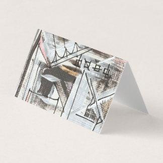Boulevard-Hand gemalte abstrakte Brushstrokes Visitenkarten