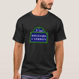 Boulevard Heilig-Germain, Paris-Straßenschild T-Shirt