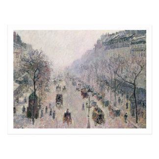 Boulevard Montmartre, 1897 (Öl auf Leinwand) Postkarte