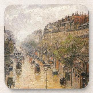 Boulevard Montmartre Frühlingsregen Camille Drink Untersetzer