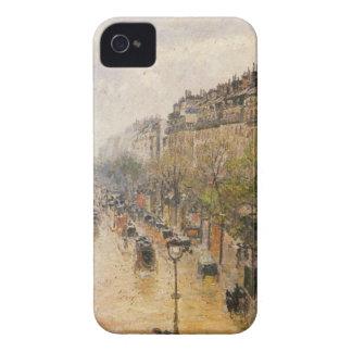 Boulevard Montmartre, Frühlingsregen durch Camille iPhone 4 Case-Mate Hüllen
