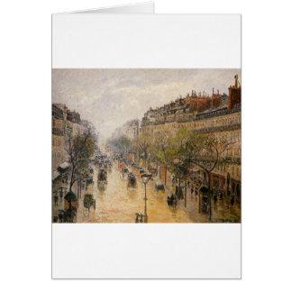 Boulevard Montmartre, Frühlingsregen durch Camille Karte
