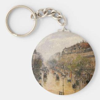 Boulevard Montmartre, Frühlingsregen durch Camille Standard Runder Schlüsselanhänger