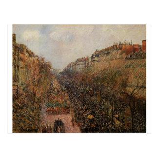 Boulevard Montmartre Karneval durch Camille Postkarte