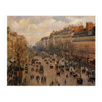 Boulevard Montmartre Nachmittag, Sonnenlicht Postkarte