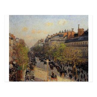 Boulevard Montmartre, Sonnenuntergang durch Postkarte