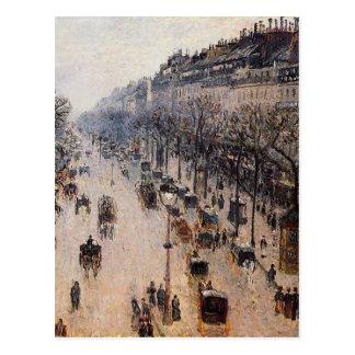 Boulevard Montmartre Winter-Morgen durch Camille Postkarte