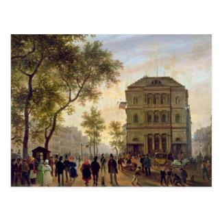 Boulevard St Martin und das Theaterde Postkarte