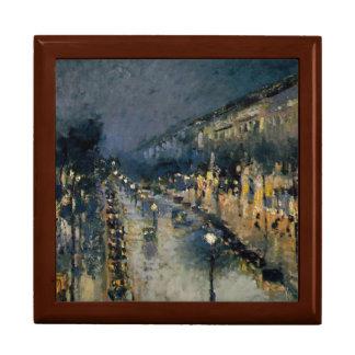 Boulevarde Montmartre am Nacht~ Camille Pissarro Geschenkbox