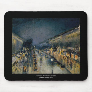 Boulevarde Montmartre am Nacht~ Camille Pissarro Mauspads