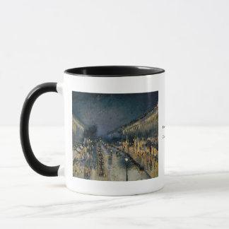 Boulevarde Montmartre am Nacht~ Camille Pissarro Tasse