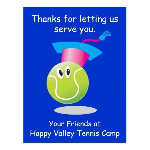 Bouncee™ lächelnde Tennisball-Verpflichtungs-Erinn Postkarten