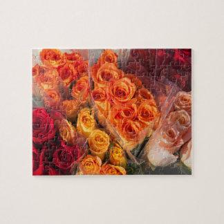 Bouqets des Rosen-Foto-Puzzlespiels Puzzle