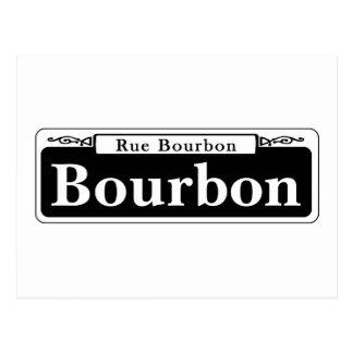 Bourbon-St., New- OrleansStraßenschild Postkarte