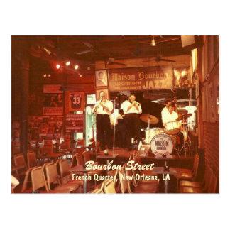 Bourbon-Straßen-Jazz New Orleans, Postkarte
