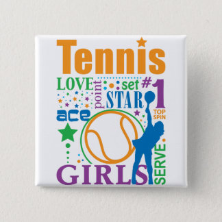 Bourne-Tennis Quadratischer Button 5,1 Cm