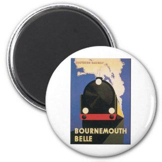Bournemouth-Schönheit Runder Magnet 5,1 Cm