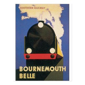 Bournemouth-Schönheits-Vintages Reise-Plakat Postkarte