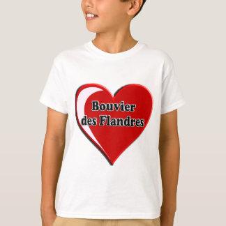 Bouvier DES Flandres auf Herzen für Hundeliebhaber T-Shirt