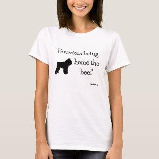Bouviers holen Zuhause das Rindfleisch - HerdNerd T-Shirt