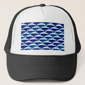 Bowhead-Wal-Muster im Blau Truckerkappe