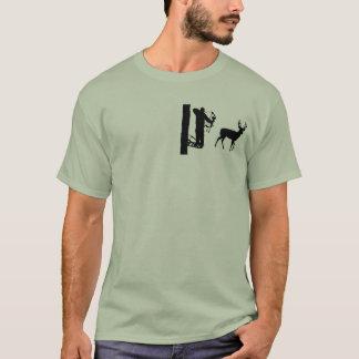 Bowhunter in den Treestand Schießen-Rotwild T-Shirt