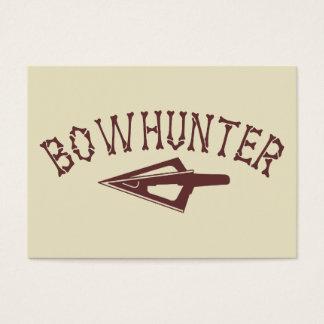 Bowhunter mit Pfeilspitze Visitenkarte