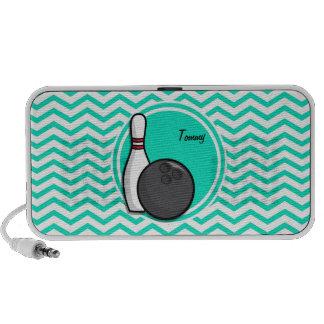 Bowling Aqua-grünes Zickzack Speaker System