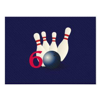 Bowling, Bowler 60. Geburtstags-Einladung 16,5 X 22,2 Cm Einladungskarte