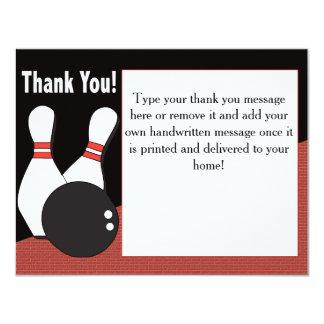 Bowling danken Ihnen zu kardieren für jeder! 10,8 X 14 Cm Einladungskarte