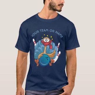 Bowling die wilde Türkei mit Ball und Buttone T-Shirt