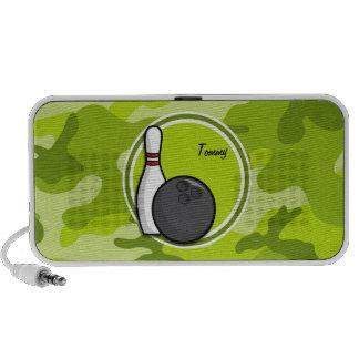 Bowling hellgrüne Camouflage Tarnung Laptop Speaker