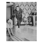 Bowling Präsidenten-Richard Nixon am Weißen Haus