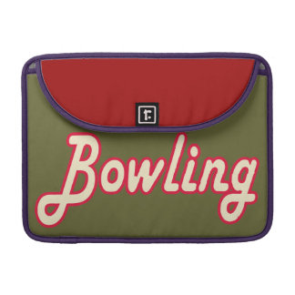 Bowling retro sleeve für MacBooks
