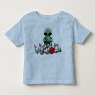 Bowlings-alien-T-Stück Kleinkind T-shirt