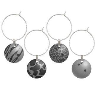 Bowlings-Ball-Grau Glasmarker