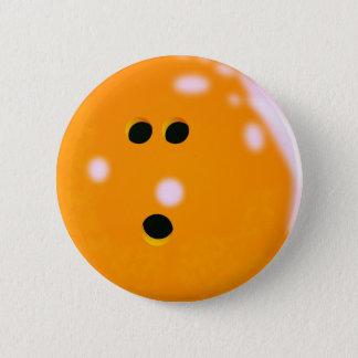 Bowlings-Ball-(orange) Knopf Runder Button 5,1 Cm