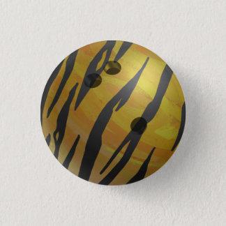 Bowlings-Ball-Tiger-Gelb Runder Button 3,2 Cm