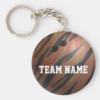 Bowlings-Ball-Tiger-Orange Schlüsselanhänger